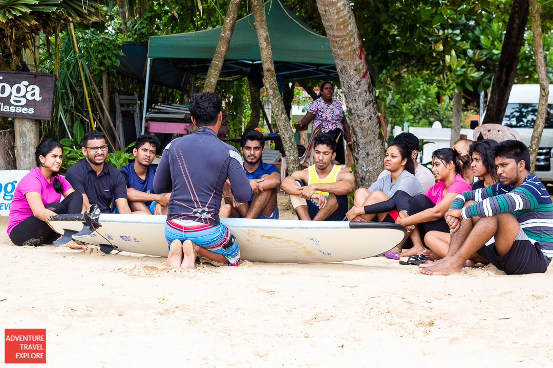 During the Waligama (Sri Lanka) surfing session