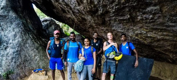 First rock climbers meet up in sri lanka